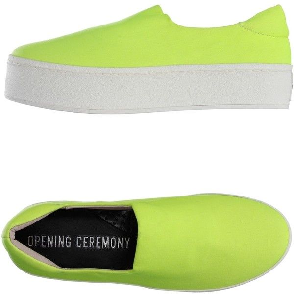 Opening Ceremony Low-tops & Trainers (£95) ❤ liked on Polyvore featuring shoes, sneakers, acid green, green sneakers, low top, low profile shoes, opening ceremony shoes and green shoes