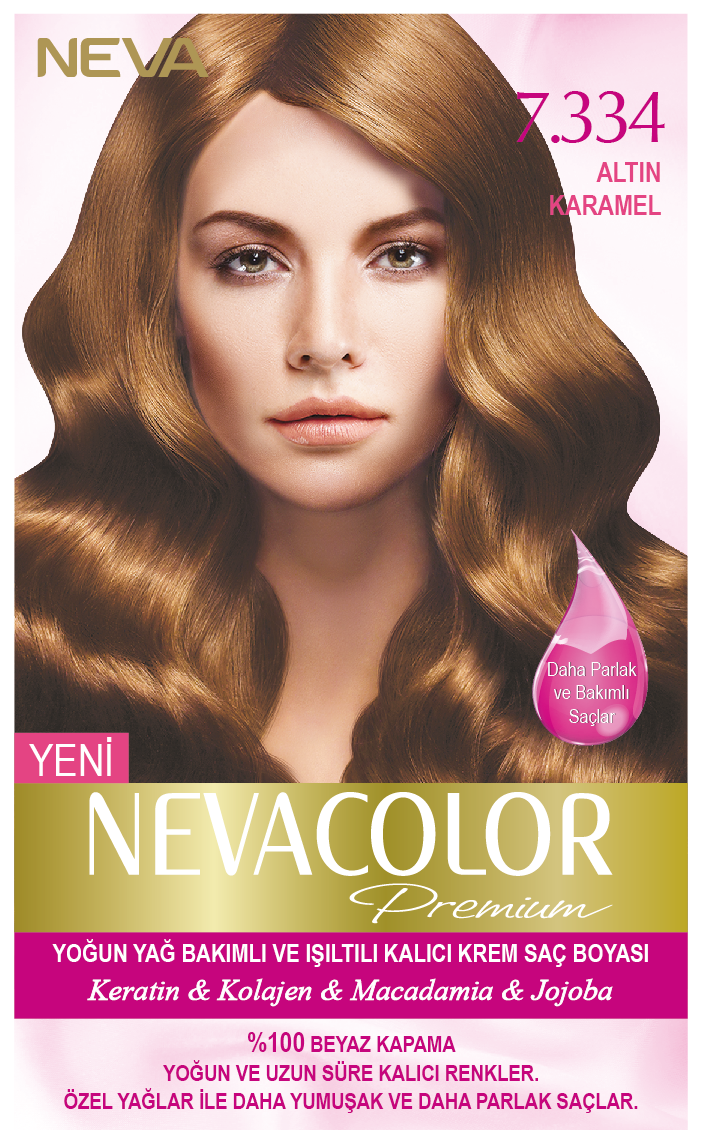 Nevacolor Premium 7 334 Altin Karamel Kalici Krem Sac Boyasi