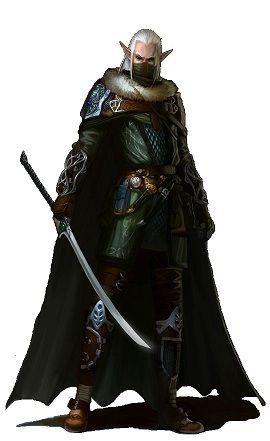 elf ranger elf slayer pathfinder pf dnd npcs pinterest