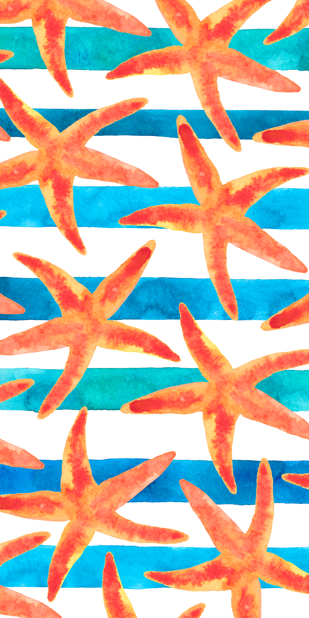 Starfish Pattern Casetify Iphone Art Design Illustration Beachy Wallpaper Nautical Wallpaper Beach Wallpaper Iphone