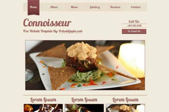 Food Website Template with jQuery Slideshow | HTML5 | Pinterest ...