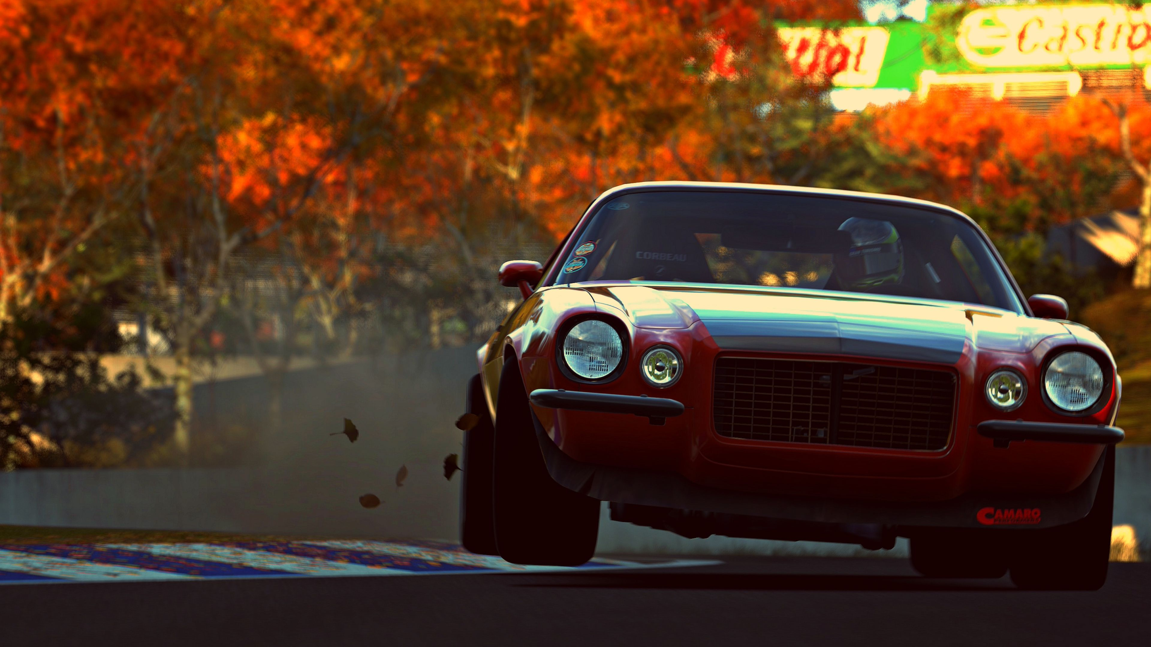3840x2160 wallpaper camaro rs muscle car vehicle gran turismo 6