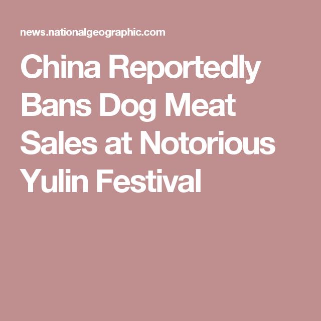 China Reportedly Bans Dog Meat Sales at Notorious Yulin Festival