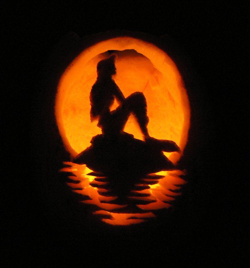 Little Mermaid Pumpkin Carving Travel Pinterest Pumpkin