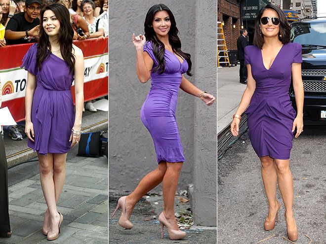 favorite color...with nude heels, kim k's hair color....oh wait ...