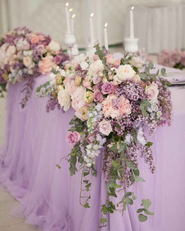 Light Purple Party Or Wedding Theme Cakes Drinks Flowers Decor