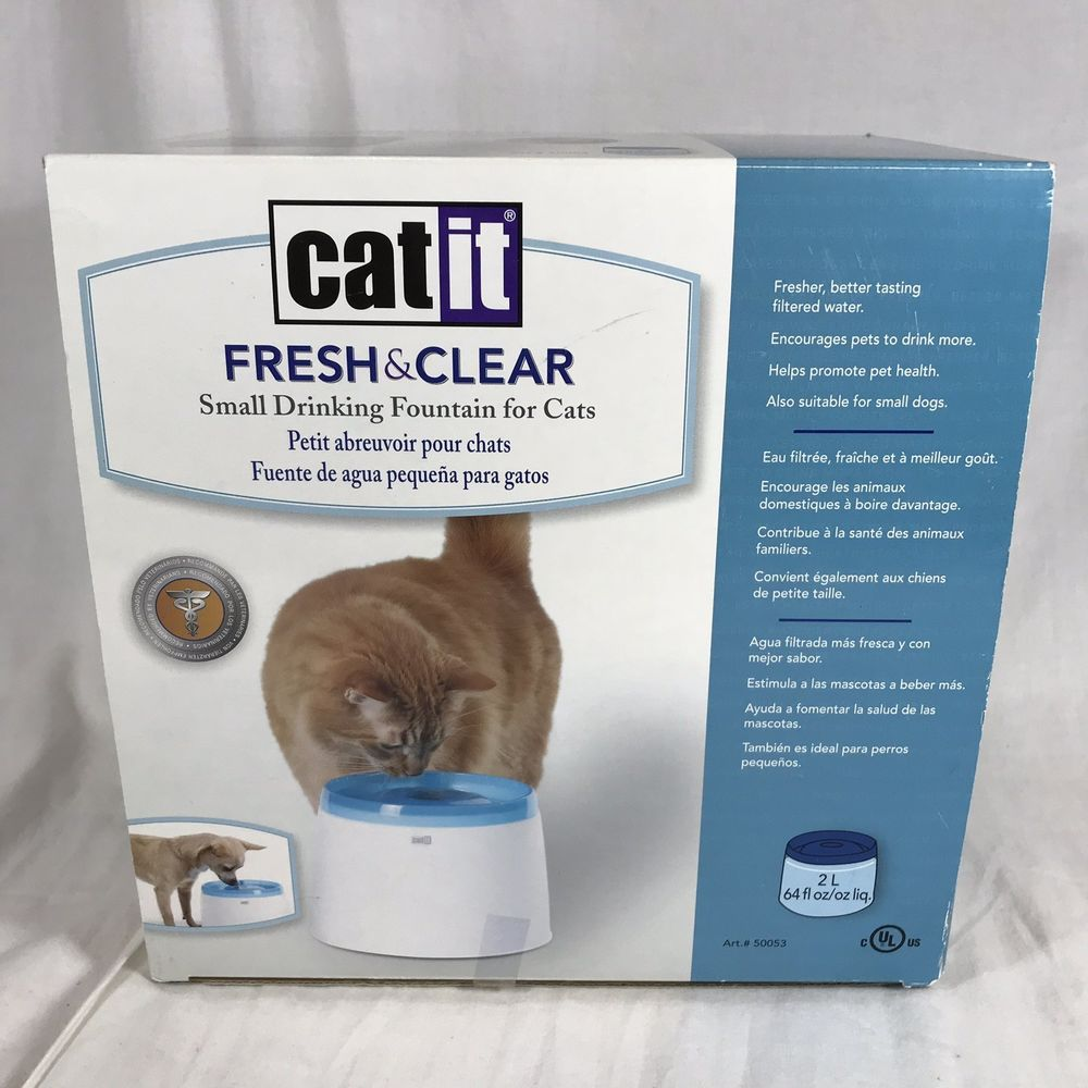 Catit Design Fresh Clear Cat Drinking Fountain Bowl Clean Water