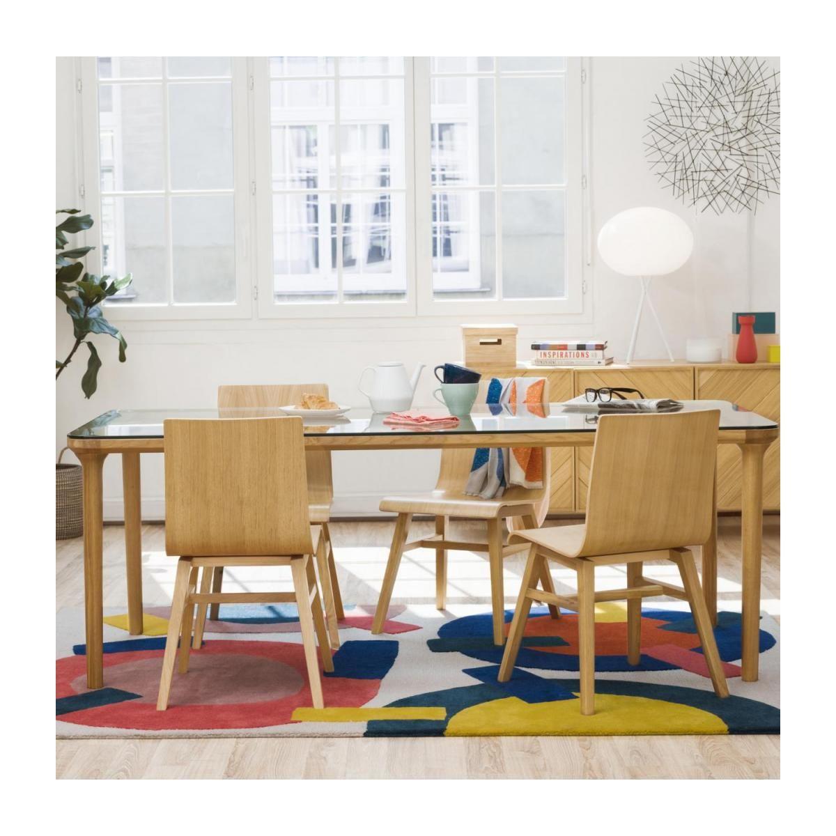 Myell Table Verre Et Chene Design By Habitat Design Studio Table En Verre Habitat Table Habitat