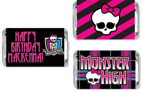 Mini Candy Bar Wraps Monster High by NspireDesign on Etsy, $3.50