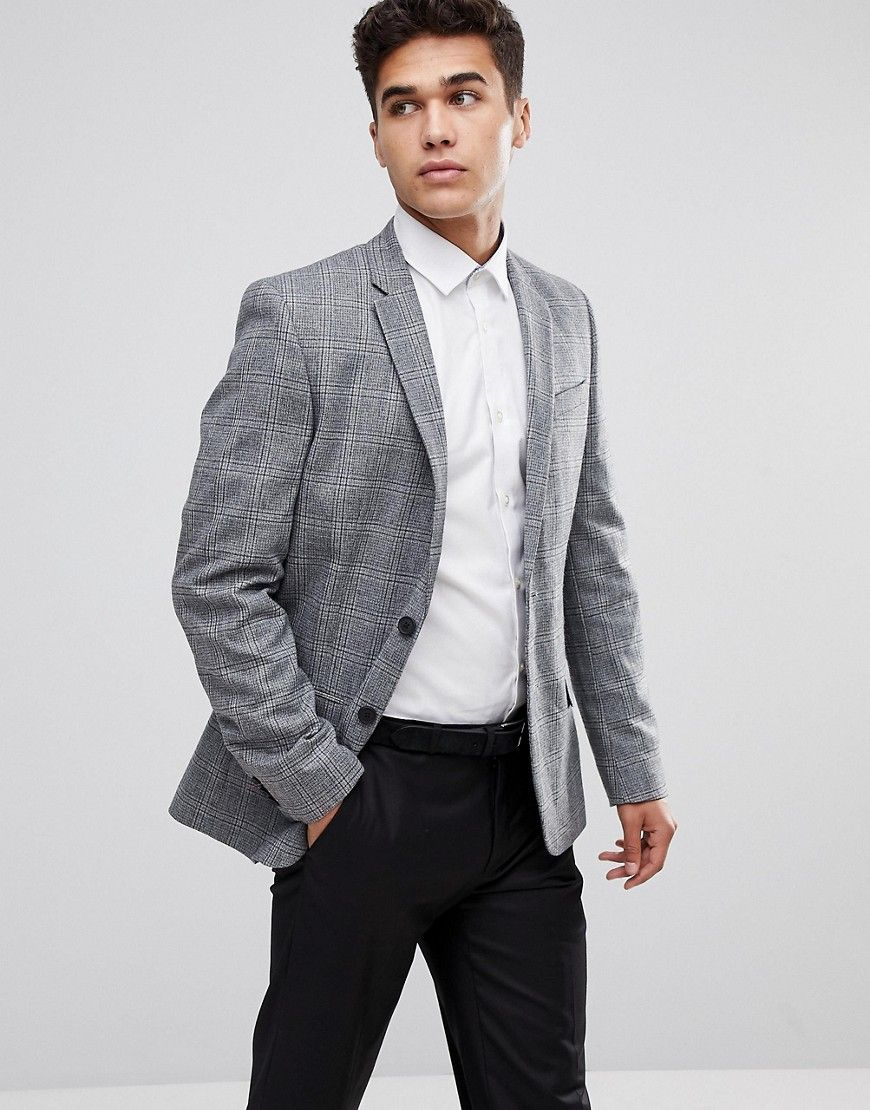 17457f15c279 NEW LOOK BLAZER IN WIDE CHECK PRINT IN GRAY - GRAY. #newlook # | 15 ...