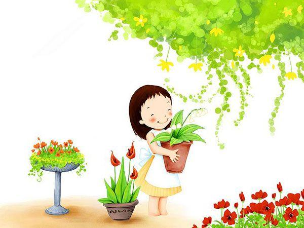 Gambar Kartun Korea Imut Manis Terbaru Cartoon Wallpaper Cute Cartoon Wallpapers Little Girl Cartoon