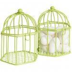 Cage à dragées verte anis x2