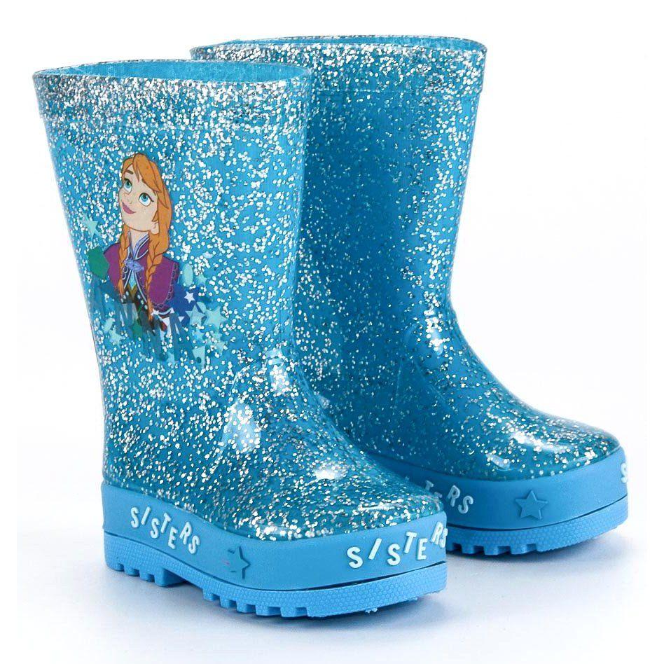 Kalosze Dla Dzieci Butymodne Niebieskie Kalosze Kraina Lodu Butymodne Boots Rain Boots Rubber Rain Boots