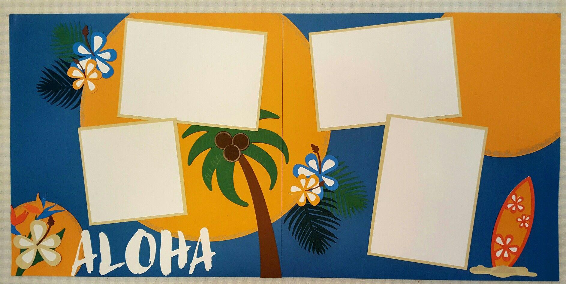Scrapbook ideas hawaii - Aloha Hawaii Tropical Scrapbook 12 X 12 Layout