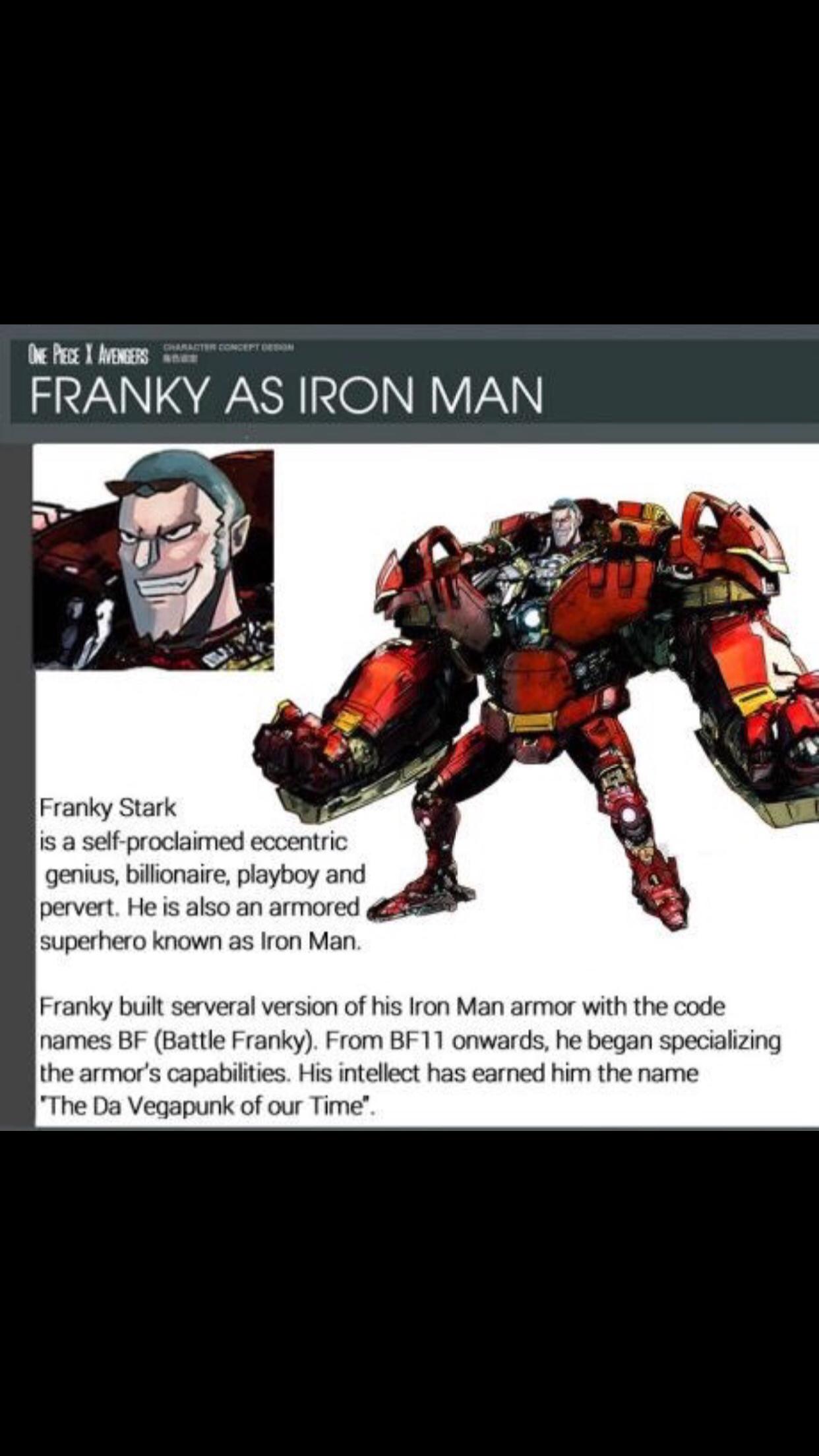 One Piece x Avengers | Franky | Iron Man | One Piece | Iron