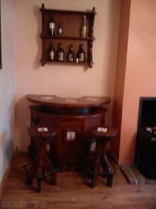 Antique Bar and Stool for sale