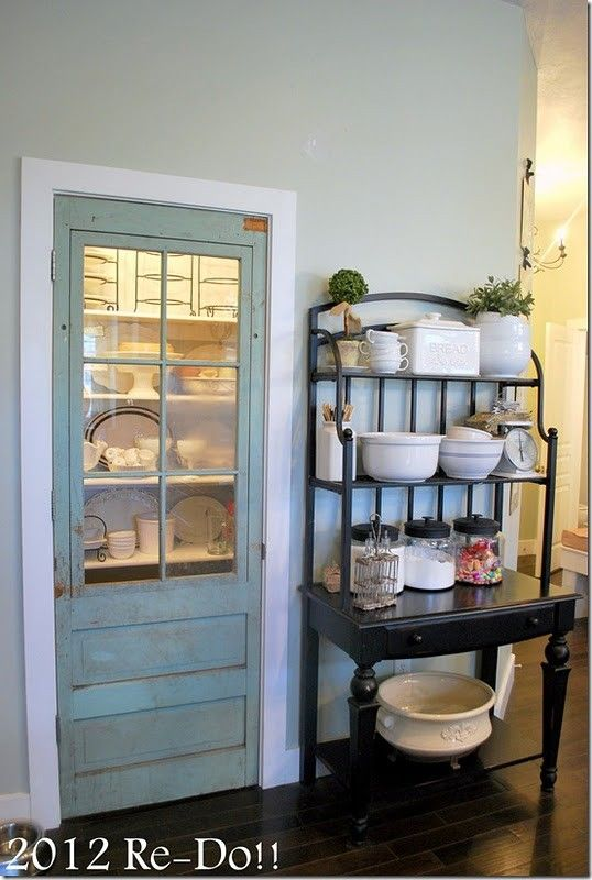 superb Cute Pantry Doors Part - 9: Cute pantry idea - I could use one of my old doors