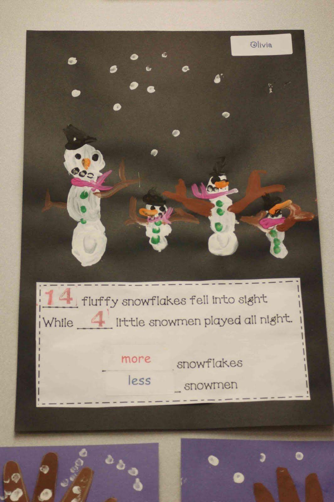 Chalk Talk A Kindergarten Blog Snowmen At Night