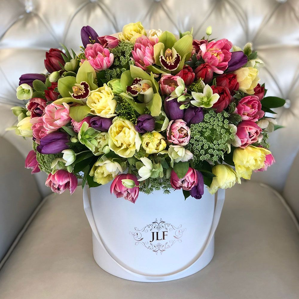Tulips Orchids Beautiful Bouquet Of Flowers Flower Boutique Same Day Flower Delivery