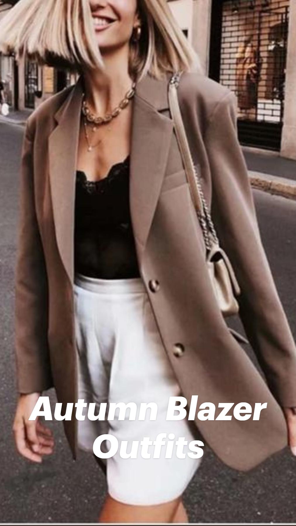 Autumn Blazer Outfits
