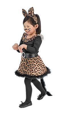 94efea587414 Girls' Black Leopard Cat Halloween Costume - One Step Ahead Baby ...