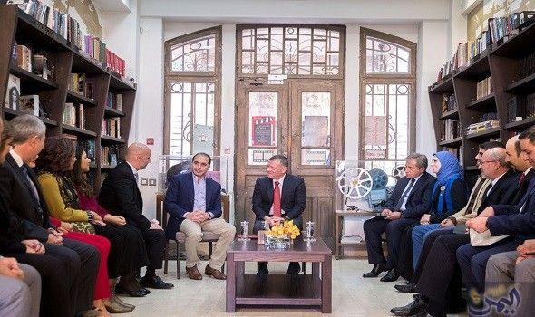 الملك عبدالله الثاني يزور الهيئة الملكية الأردنية للأفلام Royal Films King Abdullah Majesty