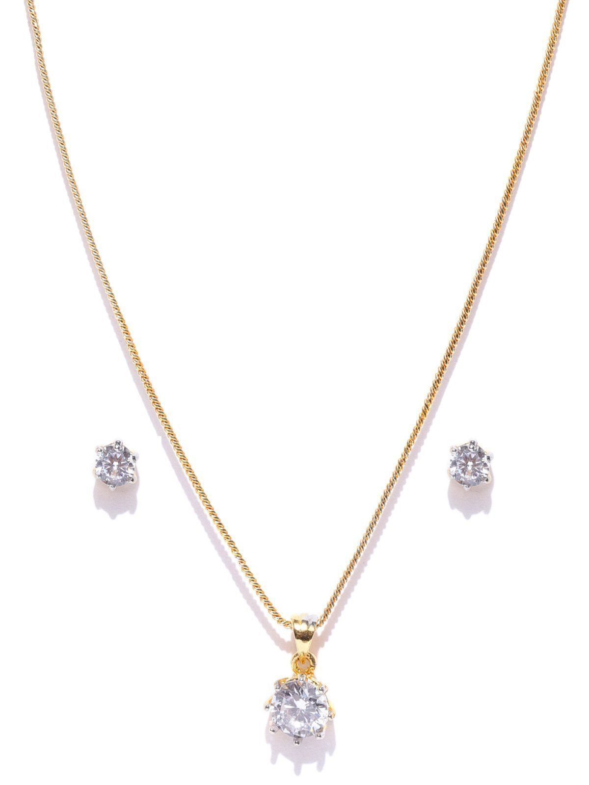 Zaveri Pearls Delicate And Stylish Pendant Set Zaveri Pearls