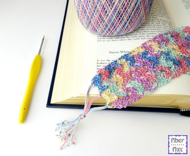 Free Crochet Pattern...Summer Reading Bookmark! | Señaladores ...