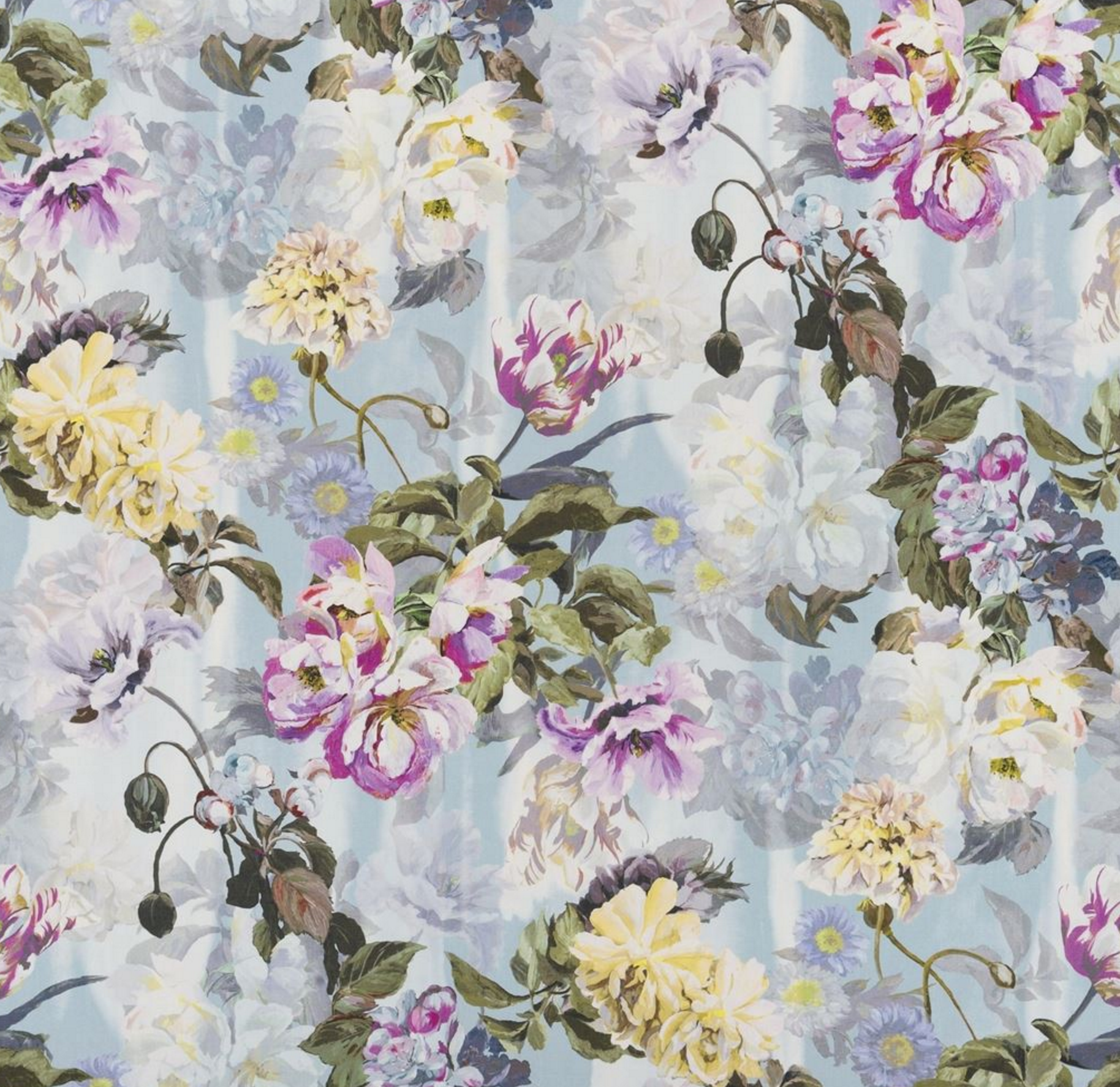 Delft Flower Fabric Swatch In