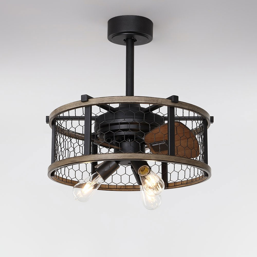 Farmhouse Rustic Reversible Ceiling Fan with Lights 3