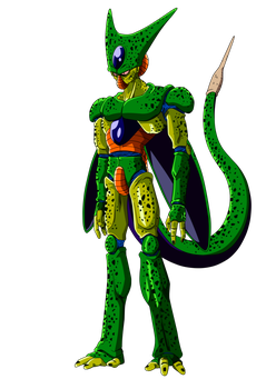 imperfect cell by boscha personajes de dragon ball anime