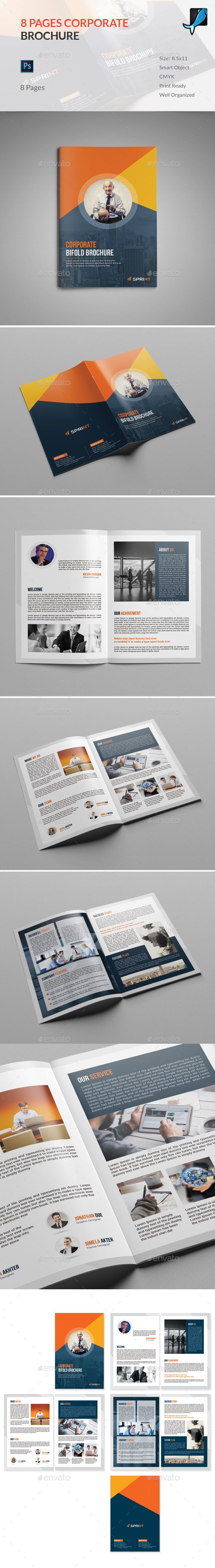 8 page brochure template can be used for any business purpose or