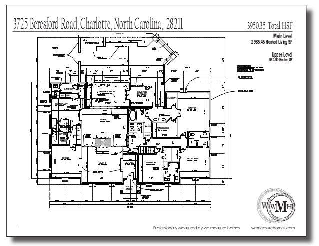 Pin On We Measure Homes Charlotte Measuring Service As Built Sample Floor Plans