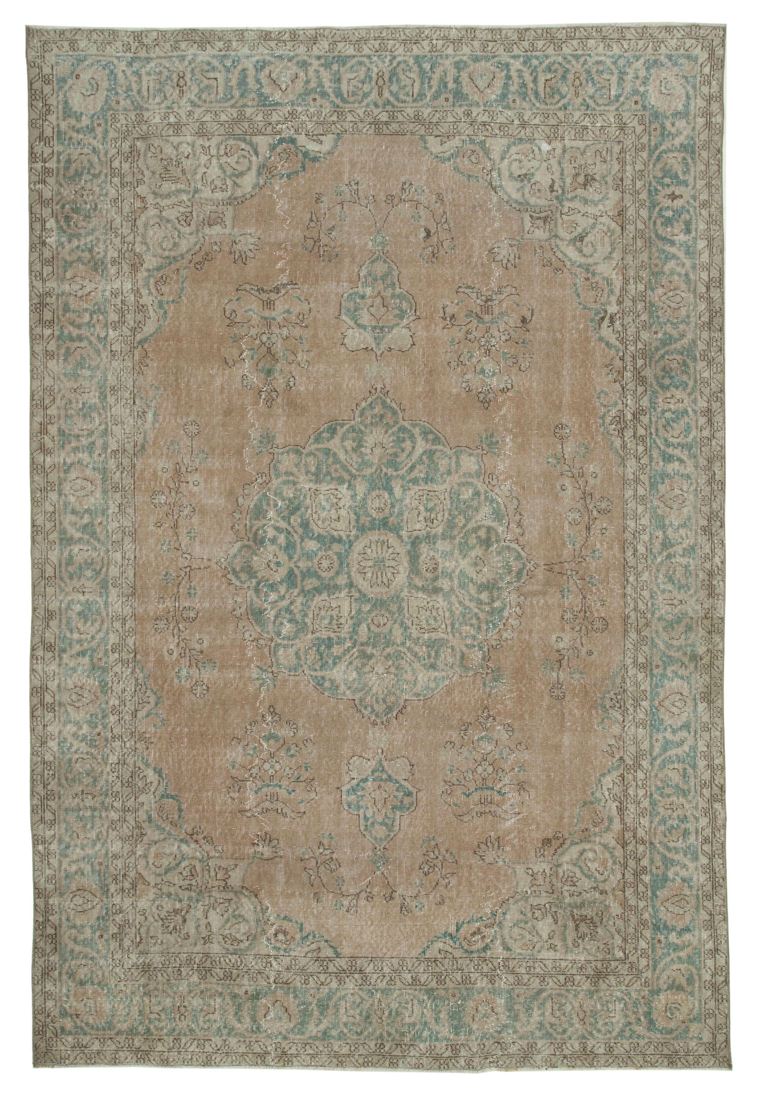7x11 Beige Turkish Vintage Area Rug 5024 Area Rugs Vintage Area Rugs Rugs 7 x 11 area rugs