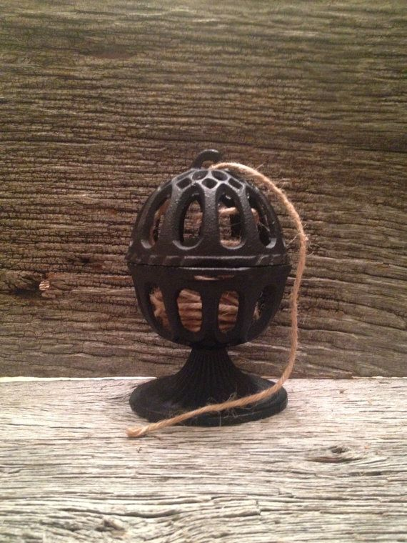 Marvelous Antique Cast Iron String Holder Twine Dispenser   Kitchen Decor/Gift  Wrapping Station