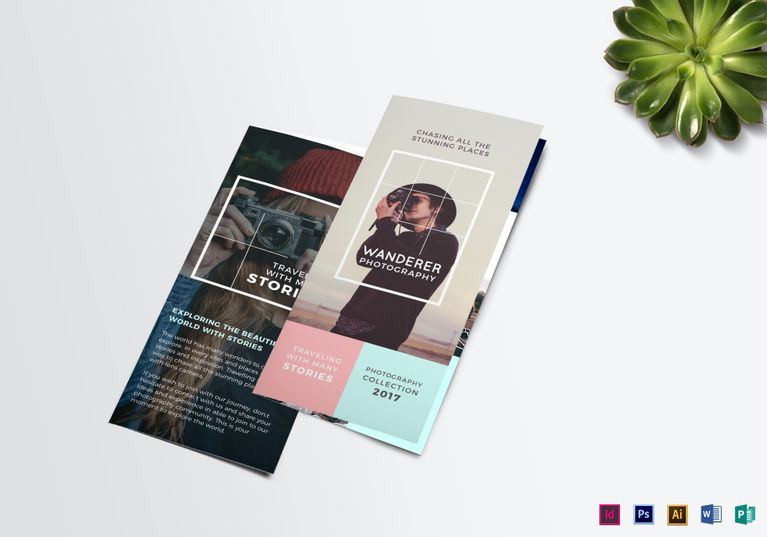wanderer photography brochure template 18 formats included illustrator ms word photoshop indesign publisher file size 1125x875 inchs brochure