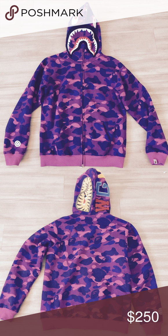 3cbf145c921f A Bathing Ape Purple Camo Full Zip Up Hoodie Bape purple Camo full zip  hoodie rare..... Bathing ape supreme bape off white Vlone palace fear of  god sony ...