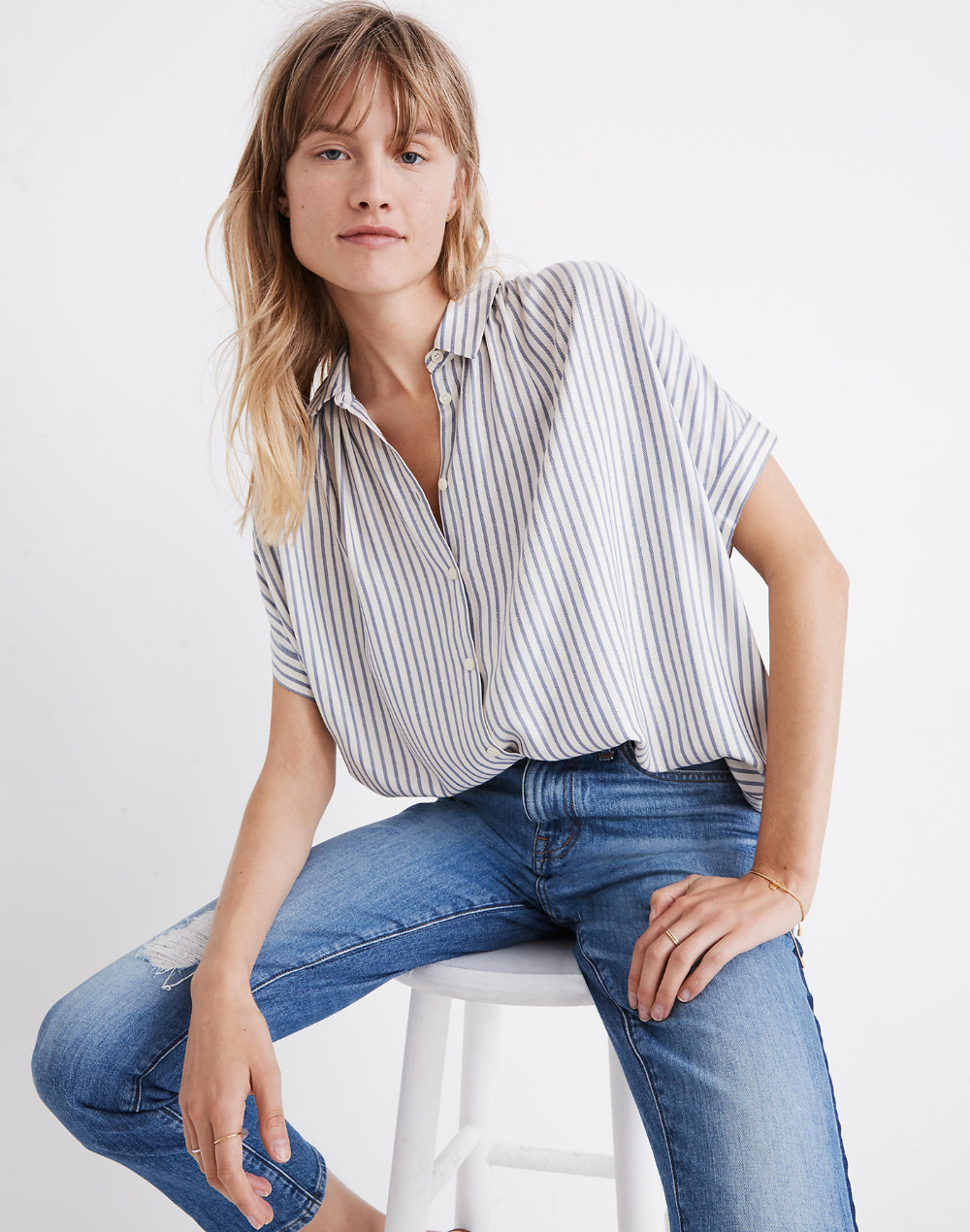 Central Shirt in Dalton Stripe Summer work outfits, Fall