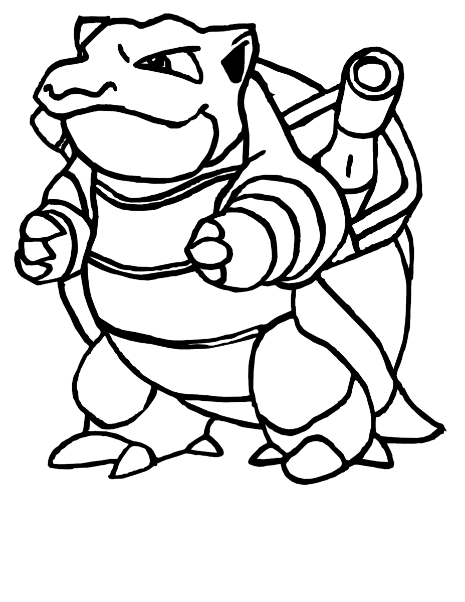 pokemon blastoise pokemon coloring pages pinterest pokemon