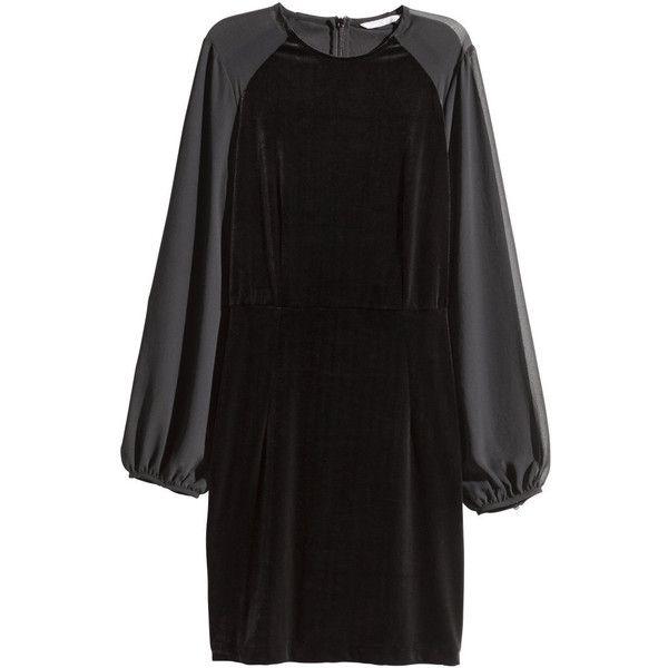 Black dress long 760