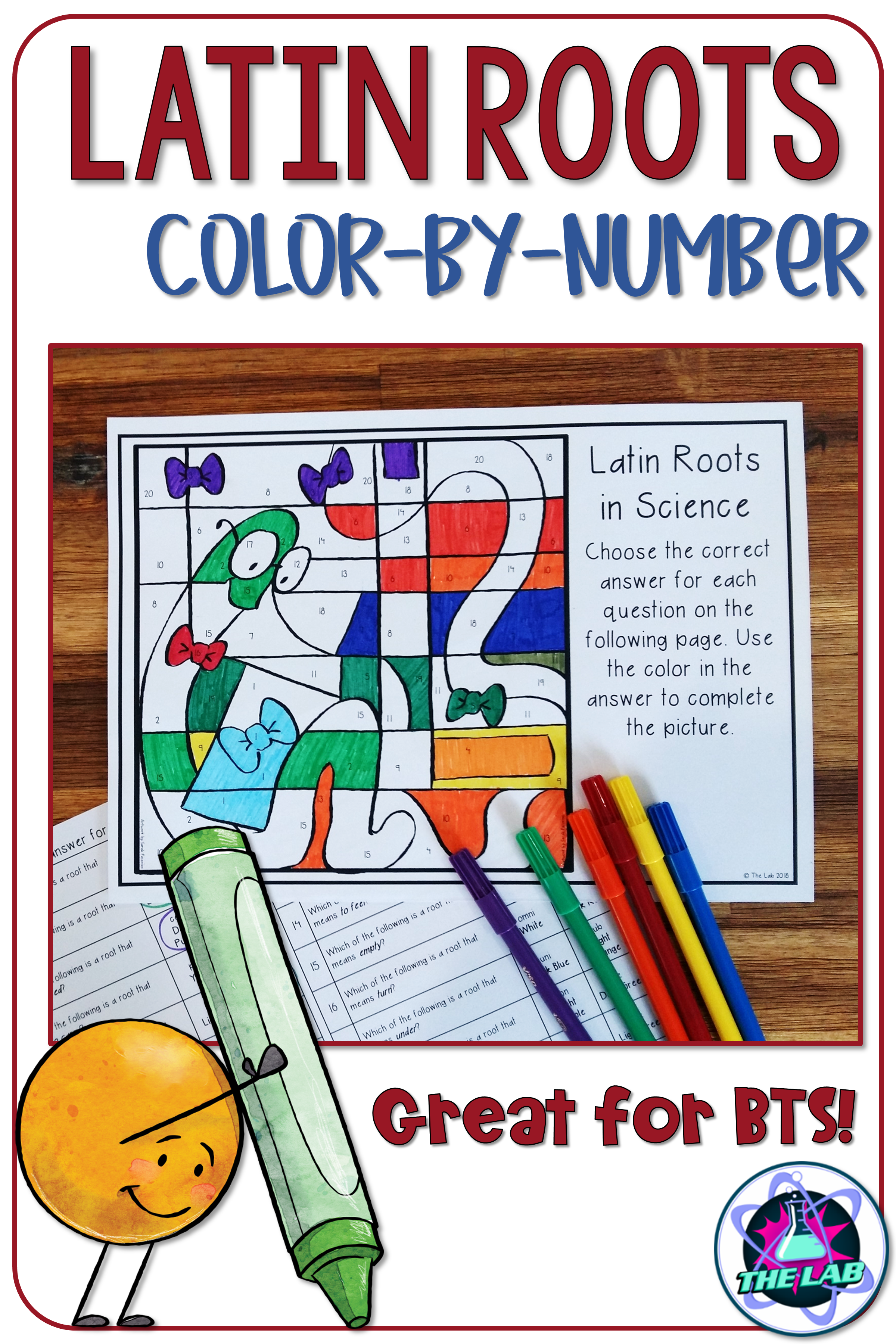 Latin Roots In Science Color By Number