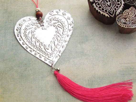 Valentines Day Heart Home Decor Ethnic Boho By FoilingStar