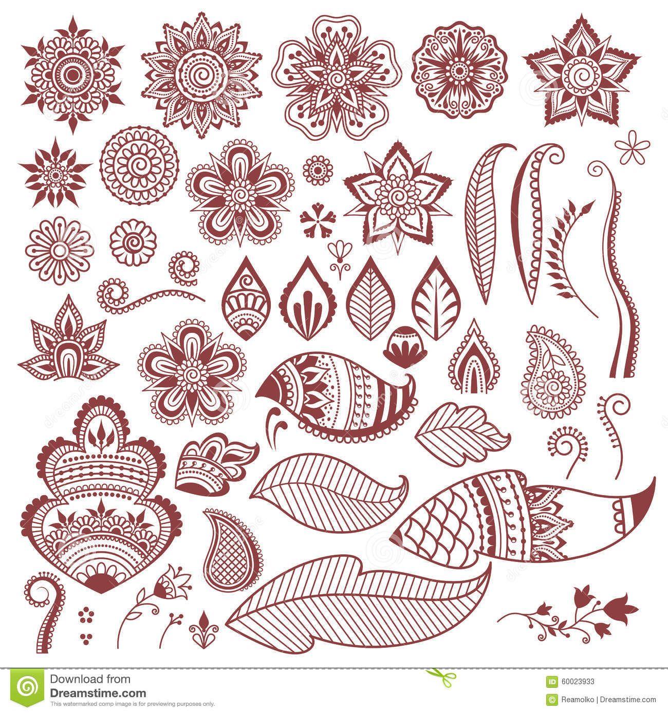 Mehndi Henna Tattoo Flowers And Leaves Henna Zentangle Henna