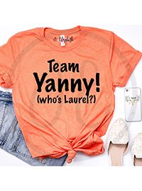 Team Yanny (who's Laurel?) Printed graphic tee No cracking or peeling #humor #yanny #laurel Which team are you? $24 J Elizabeth Boutique - Product Catalog -