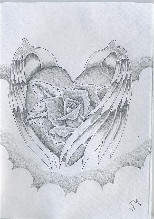 Love drawings wings of love drawing