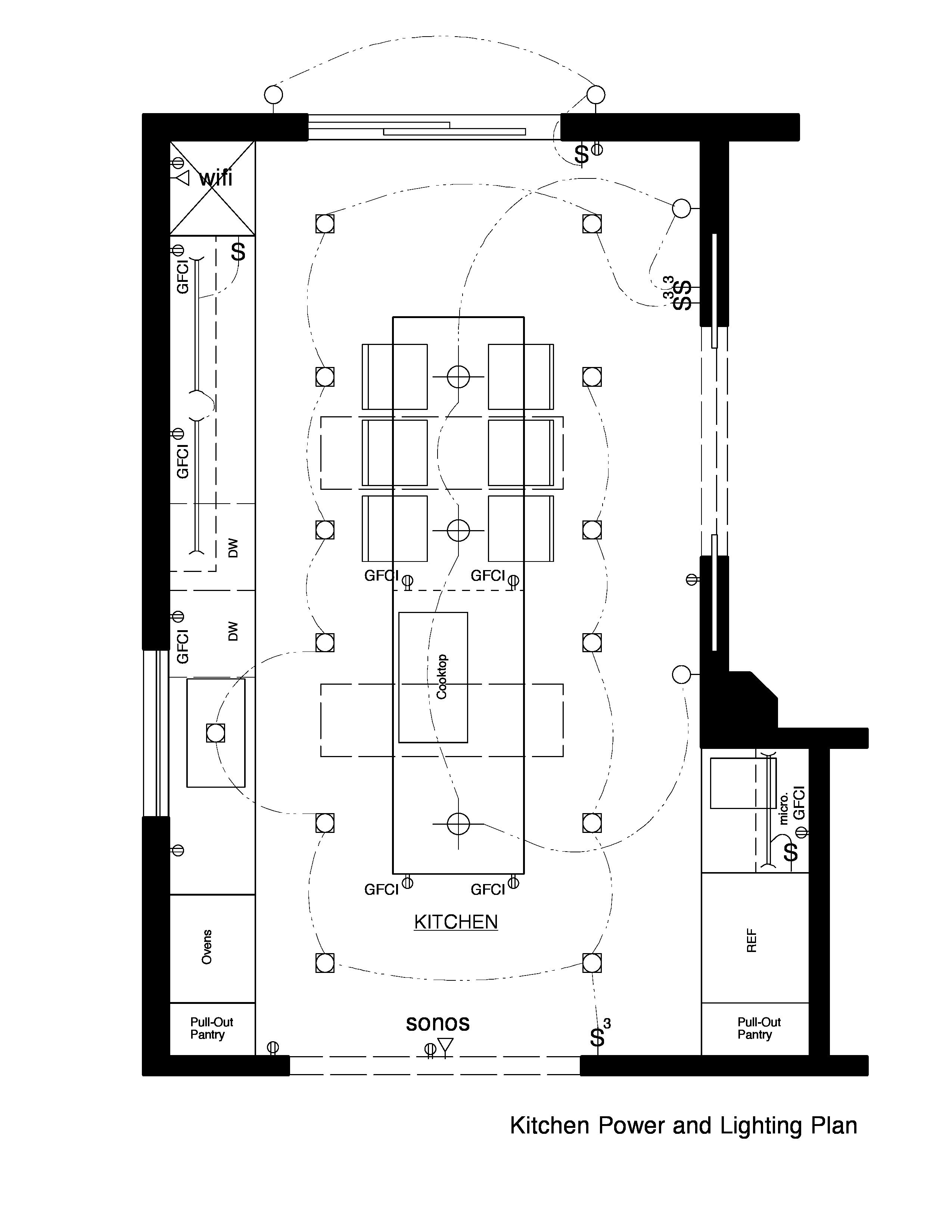 Example Grid Layout Plan Kitchen