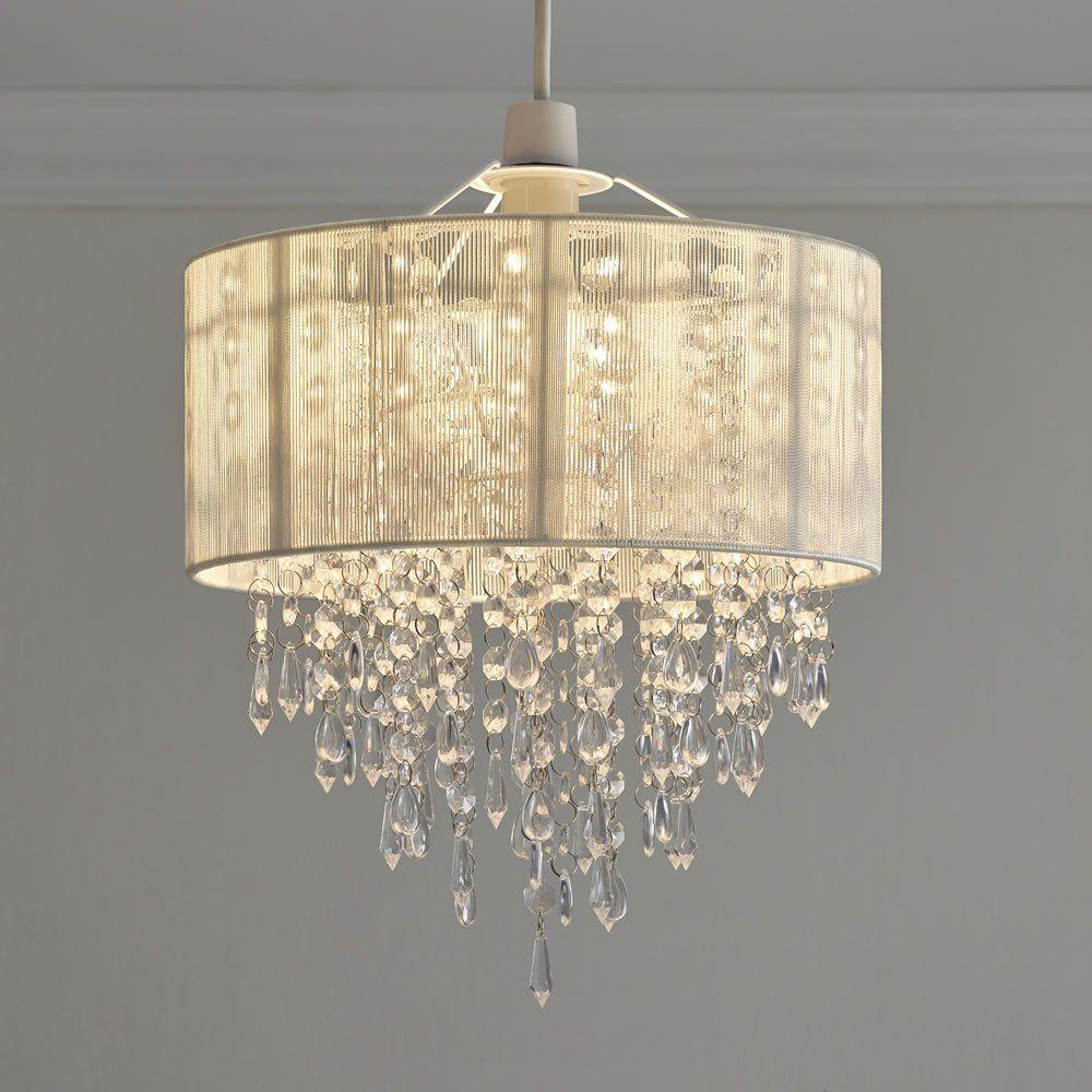 Wilko Jewel Cylinder Shade Teal Lamp Shades Cylinder Jewels