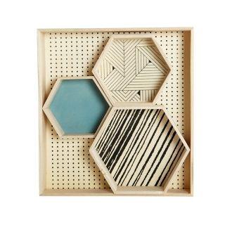 Tablett Hexagonal 4er-Set von house doctor
