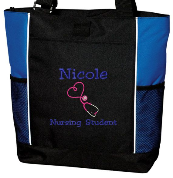 Tote Bag Personalized Nurse Student Rn Bsn Er Lvn Lpn Nicu Med Assistant Emergency Room Department