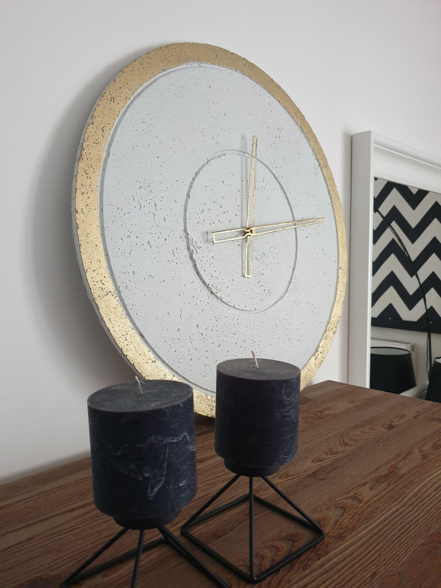 Concrete Wall Clock Concrete Clock Handmade Large Wall Clock Etsy Large Wall Clock Wall Clock Modern Handmade Wall Clocks
